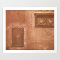 Cat on the Wall Art Print
