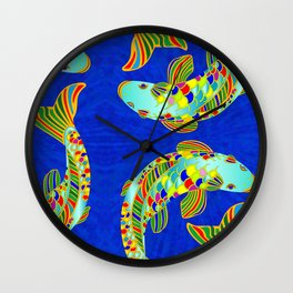 Fishy Koi Wall Clock
