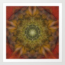 Inner Fire Digital kaleidoscope Art  Art Print
