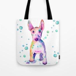 Terrier Bubbles Tote Bag