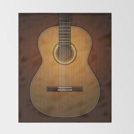 Classic Guitar Throw Blanket