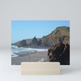 SANDYMOUTH BEACH NORTH CORNWALL Mini Art Print