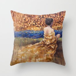 Lights of the Night Throw Pillow
