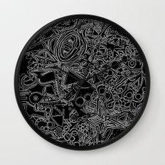 White/Black #1 Wall Clock