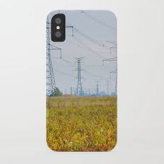 Landscape with power lines iPhone X Slim Case