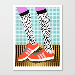 Spiffy - shoes art print memphis design style modern colorful california socal los angeles brooklyn  Canvas Print