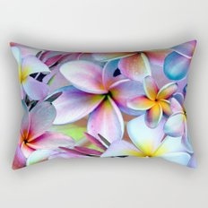 Rainbow Plumeria Rectangular Pillow