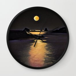 Blood Moon Reflection Wall Clock