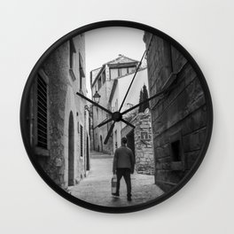 Catalan walkings Wall Clock