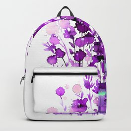 Floral Charm No.1B by Kathy Morton Stanion Backpack