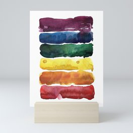awesome rainbow watercolor Mini Art Print
