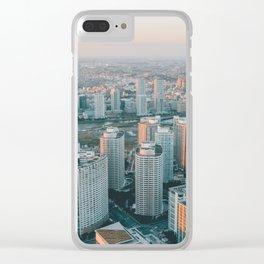 Yokohama skyline Clear iPhone Case