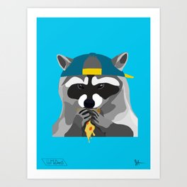 Rebel Trash Panda Art Print