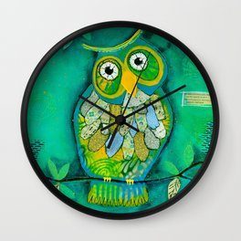 """Wisdom Owl"" Wall Clock"