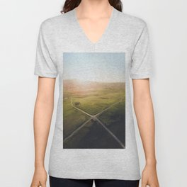 Crossroad from above Unisex V-Neck