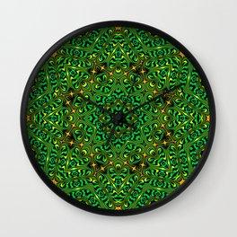Orange Yellow and Green Kaldeidoscope 4 Wall Clock