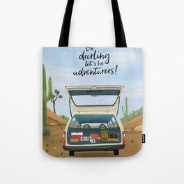 Lets Be Adventures Print Tote Bag