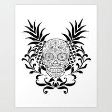 Tropiskull Art Print