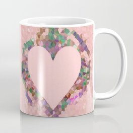 Old Fashioned Pink Heart Coffee Mug