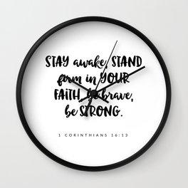1 Corinthians 16:13 - Bible Verse Wall Clock