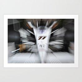 Formula Zoom (original) Art Print