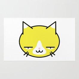 Kore wa Cat (Smug Yellow Cat) Rug