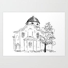 Church St Nikola, Varna Art Print
