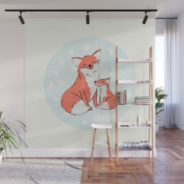 Momma Fox Wall Mural