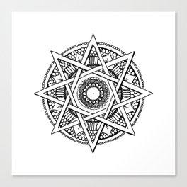 Abstract Mandala Canvas Print