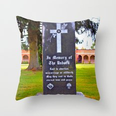 Memory of the unborn Throw Pillow