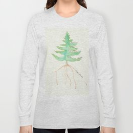 Tree with Isaac Newton Quote Long Sleeve T-shirt