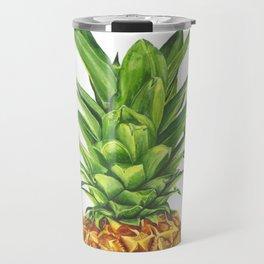 Watercolor Pineapple Travel Mug