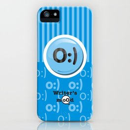 Blue Writer's Mood iPhone Case