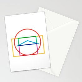 Minmal Pantheon color Stationery Cards