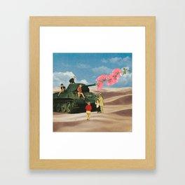 Love Not War Framed Art Print