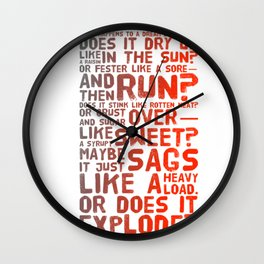 Does It Explode? Wall Clock