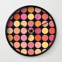 More Polka Dots on Black Wall Clock
