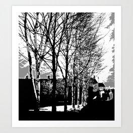 Town Trees Art Print