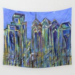 Blue Philadelphia Skyline Wall Tapestry