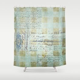 carnet de chèques Shower Curtain