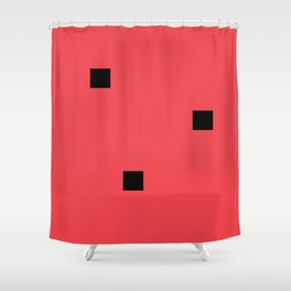 Watermelon in the style of Malevich, version 2 Shower Curtain