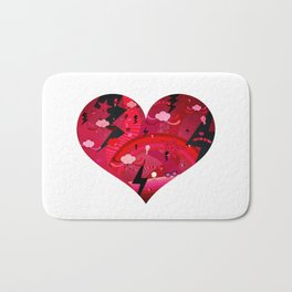BIG HEART Bath Mat