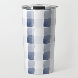 Chambray, abstract square pattern Travel Mug