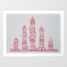 Socio Cidade Art Print
