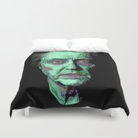 christopher walken Duvet Covers featuring The Walken Dead by Ron (Rockett) Trickett