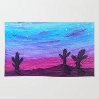arizona Area & Throw Rugs featuring Arizona by HeartsandKeysArt