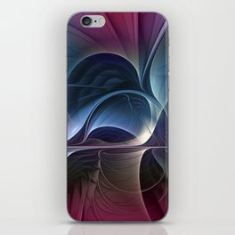 Fractal Mysterious, Colorful Abstract Art iPhone Skin
