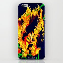 Flaming  iPhone Skin