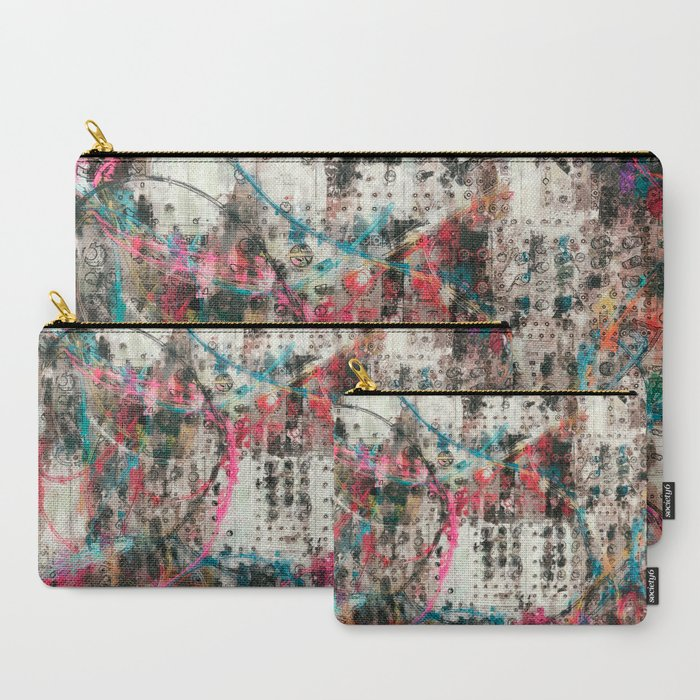 Analog Synthesizer, Abstract painting / illustration Carry-All Pouch