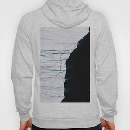 Black and White - Abstract minimal Iceberg aerial view in Greenland - Landscape Photography Hoody
